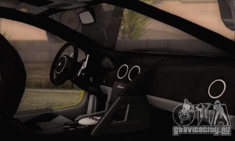 Lamborghini Murciélago 2005 Memes Editions HQLM для GTA San Andreas вид справа