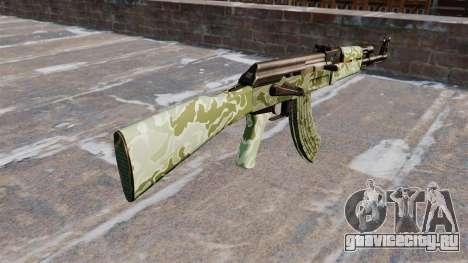 Автомат АК-47 Green camo для GTA 4 второй скриншот