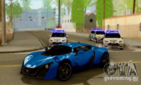 Ford Focus ST 2013 British Hampshire Police для GTA San Andreas вид изнутри