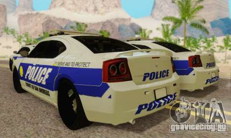 Pursuit Edition Police Dodge Charger SRT8 для GTA San Andreas вид сзади
