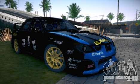 Subaru Impreza WRC STI Black Metal Rally для GTA San Andreas салон