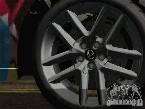 Lexus IS350 FSPORT Stikers Editions 2014 для GTA San Andreas вид сзади слева