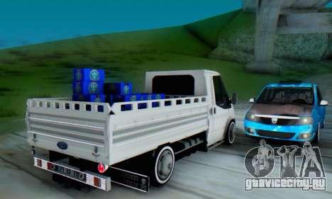 Ford Transit Pikap для GTA San Andreas вид справа