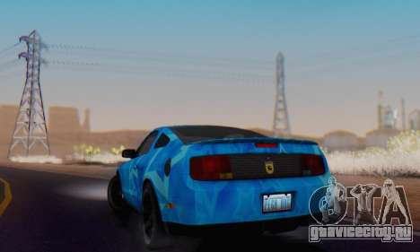 Ford Mustang Shelby Blue Star Terlingua для GTA San Andreas вид сзади