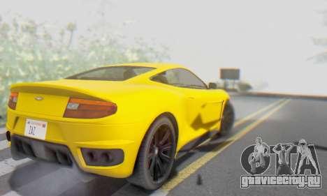 Dewbauchee Massacro 1.0 для GTA San Andreas вид снизу