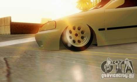 Honda Civic ek Coupe Hellaflush для GTA San Andreas вид справа