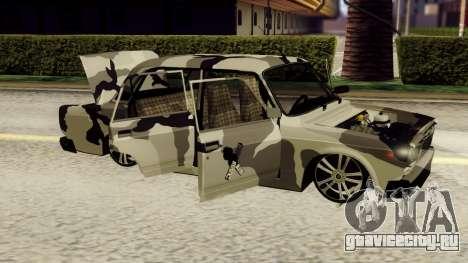 ВАЗ 2107 в камуфляже для GTA San Andreas вид слева