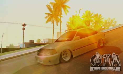 Honda Civic ek Coupe Hellaflush для GTA San Andreas вид слева