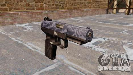 Пистолет FN Five-seveN Blue Camo для GTA 4