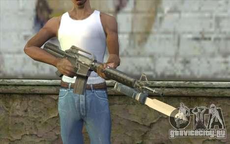 M4A1 со штыком для GTA San Andreas третий скриншот