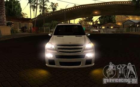 Mercrdes-Benz GL500 для GTA San Andreas вид изнутри