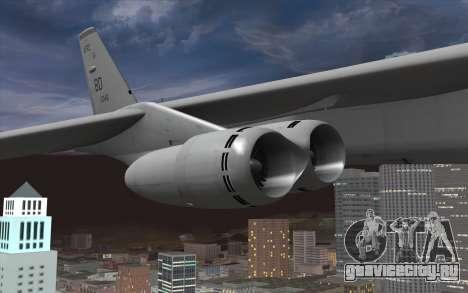 Boeing B-52H Stratofortress для GTA San Andreas вид справа