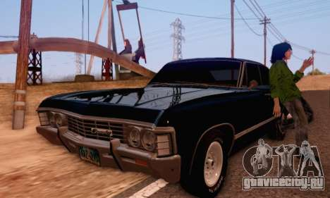 Chevrolet Impala 1967 Supernatural для GTA San Andreas вид справа