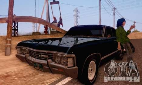 Chevrolet Impala 1967 Supernatural для GTA San Andreas вид справа
