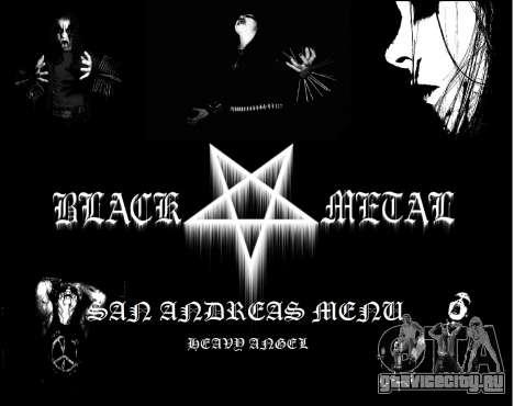Black Metal Menu (полноэкранный) для GTA San Andreas