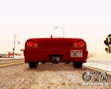 Elegy Кабриолет v1.1 для GTA San Andreas вид сзади слева