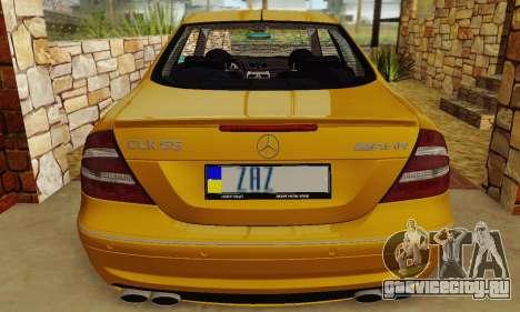 Mercedes-Benz CLK55 AMG 2003 для GTA San Andreas вид изнутри