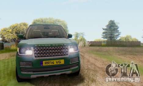 Range Rover Vogue 2014 V1.0 UK Plate для GTA San Andreas вид сбоку