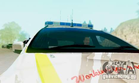 Ford Focus ST 2013 British Hampshire Police для GTA San Andreas вид сзади слева