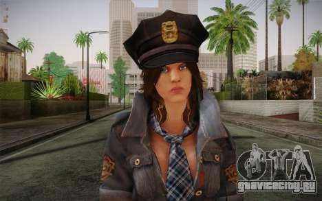 Helena Harper Police Version для GTA San Andreas третий скриншот