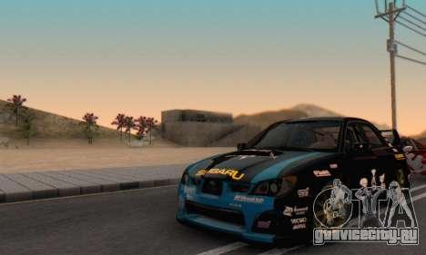 Subaru Impreza WRC STI Black Metal Rally для GTA San Andreas вид сбоку