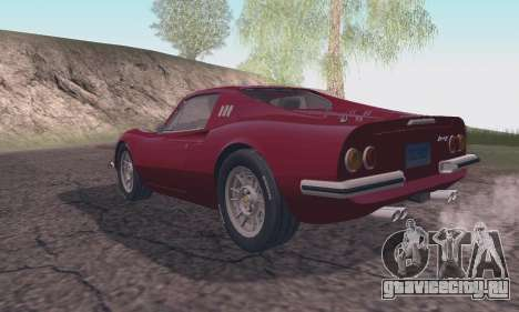 Ferrari Dino 246 GTS Coupe для GTA San Andreas вид слева