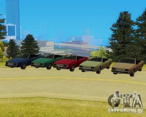 Majestic Кабриолет для GTA San Andreas вид сзади слева