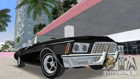 Buick Riviera 1972 Boattail для GTA Vice City вид сзади