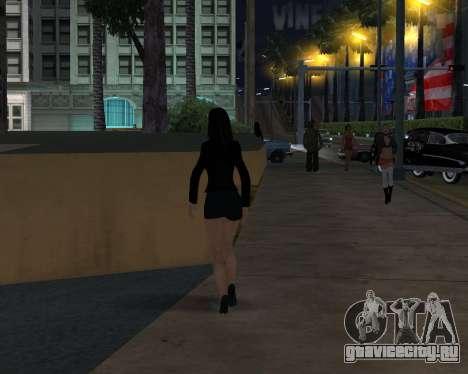 Black Dressed Girl для GTA San Andreas четвёртый скриншот