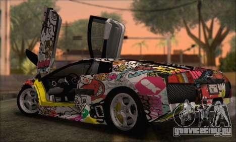 Lamborghini Murciélago 2005 Memes Editions HQLM для GTA San Andreas вид сзади слева