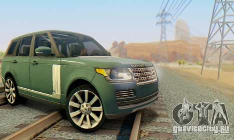 Range Rover Vogue 2014 V1.0 Interior Nero для GTA San Andreas