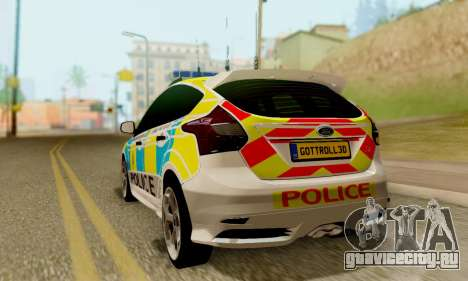 Ford Focus ST 2013 British Hampshire Police для GTA San Andreas вид слева