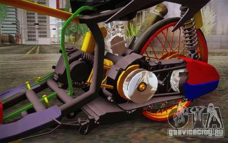 Honda Click 125i для GTA San Andreas вид справа