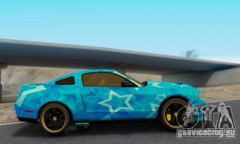 Ford Mustang Shelby Blue Star Terlingua для GTA San Andreas вид слева