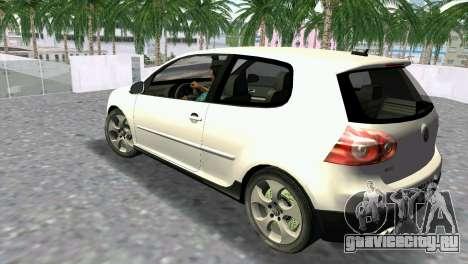 Volkswagen Golf V GTI для GTA Vice City вид слева