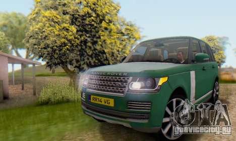 Range Rover Vogue 2014 V1.0 UK Plate для GTA San Andreas вид изнутри
