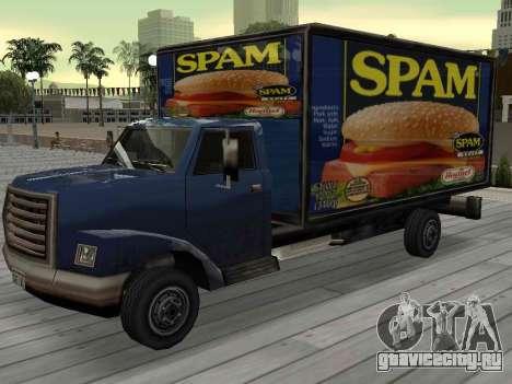 Новая реклама на автомобилях для GTA San Andreas