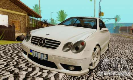 Mercedes-Benz CLK55 AMG 2003 для GTA San Andreas двигатель