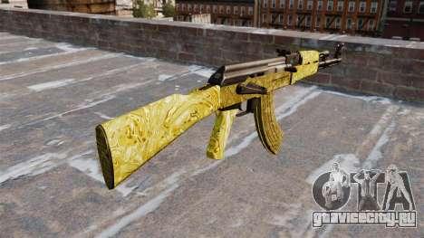 Автомат АК-47 Gold для GTA 4 второй скриншот