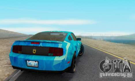 Ford Mustang Shelby Blue Star Terlingua для GTA San Andreas вид сзади слева