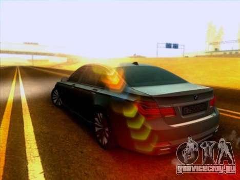 BMW 750li для GTA San Andreas вид сзади слева