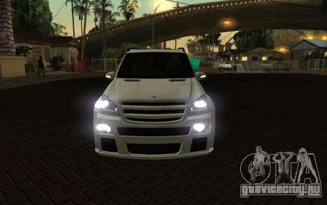 Mercrdes-Benz GL500 для GTA San Andreas вид сзади
