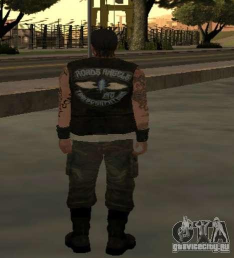 Байкер из клуба Roads Angels для GTA San Andreas третий скриншот