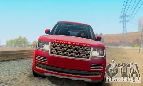 Range Rover Vogue 2014 V1.0 Interior Nero для GTA San Andreas вид слева