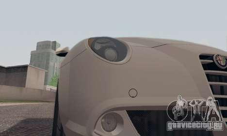 Afla Romeo Mito Quadrifoglio Verde для GTA San Andreas двигатель