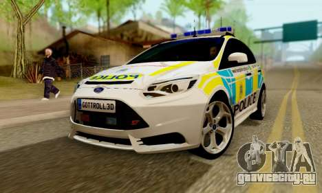 Ford Focus ST 2013 British Hampshire Police для GTA San Andreas