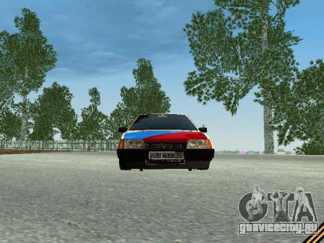 Ваз 2109 для GTA San Andreas вид изнутри