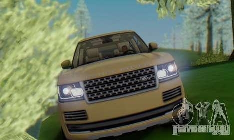 Range Rover Vogue 2014 V1.0 SA Plate для GTA San Andreas вид справа