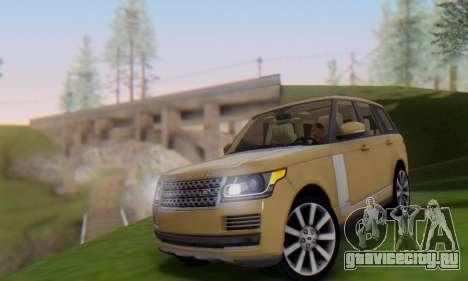 Range Rover Vogue 2014 V1.0 SA Plate для GTA San Andreas