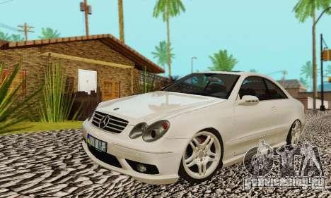 Mercedes-Benz CLK55 AMG 2003 для GTA San Andreas салон